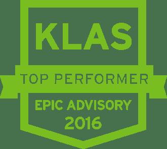 Top KLAS Performer 2016 green shield