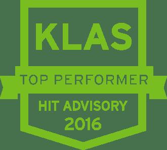 Top KLAS Performer HIT Advisory 2016 shield